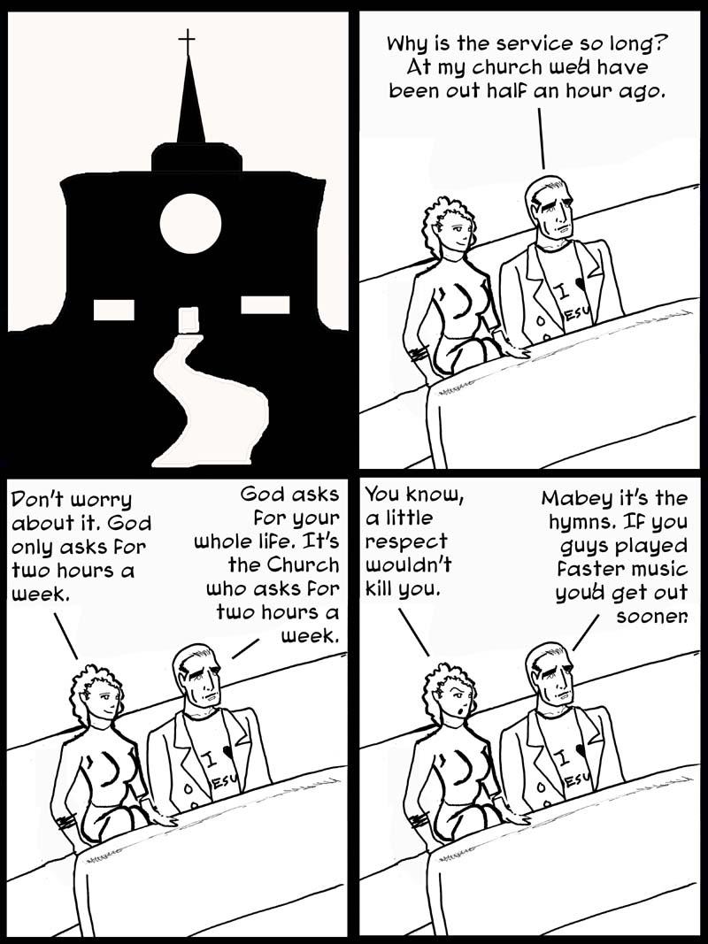 Steve's Church visit